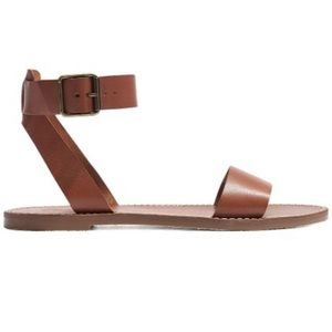 Madewell Cognac Boardwalk Sandals NWOT